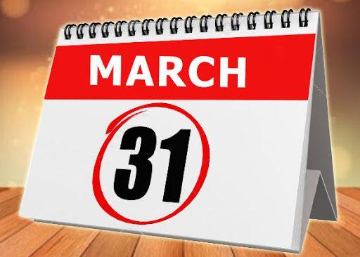 March 31 Calendar Image